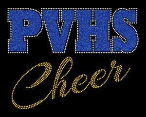 PVHS Cheer custom rhinestone glitter design