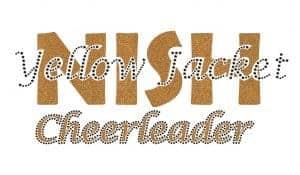 NISH Yellow Jacket Cheerleader custom bling design