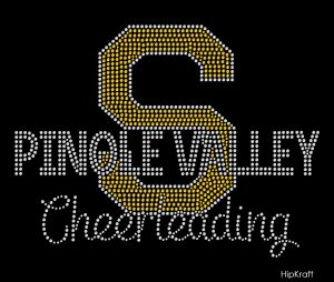 Pinole Valley Cheerleading custom bling design