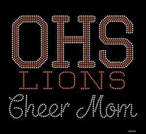OHS Lions custom Cheer mom design