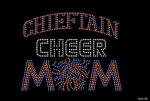 Chieftain Cheer Mom customized bling design