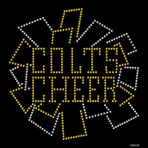 Colts Cheer personalized bling design