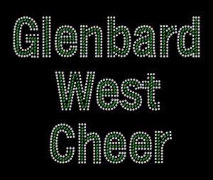 Glenbard West Cheer custom bling design
