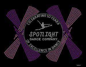 Spotlight Dance Company custom bling design
