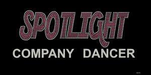 Spotlight Company Dancer custom rhinestone design