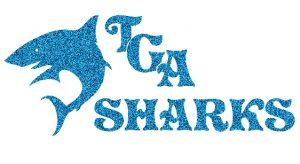 TGA Sharks custom glitter design